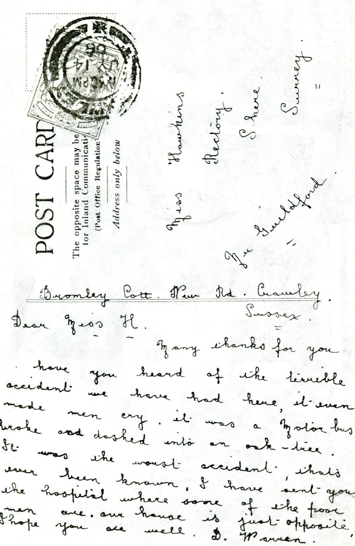 Dear miss robinson - 1 part 1